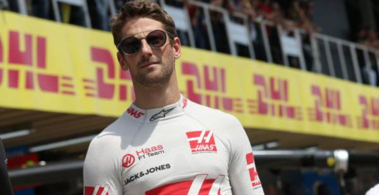 Grosjean jokes about overdoing it in the weight gain department