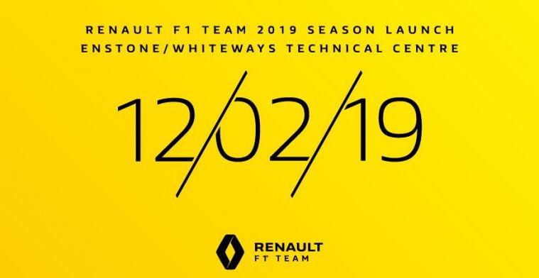 LIVE: De presentatie van de Renault RS19 livery voor het 2019 F1 seizoen