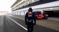 Image: Red Bull's RB15 sets off for first lap around Silverstone