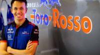 Image: Alexander Albon gets his first taste of F1