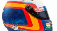 Afbeelding: Carlos Sainz toont nieuwe helm voorafgaand aan onthulling MCL34