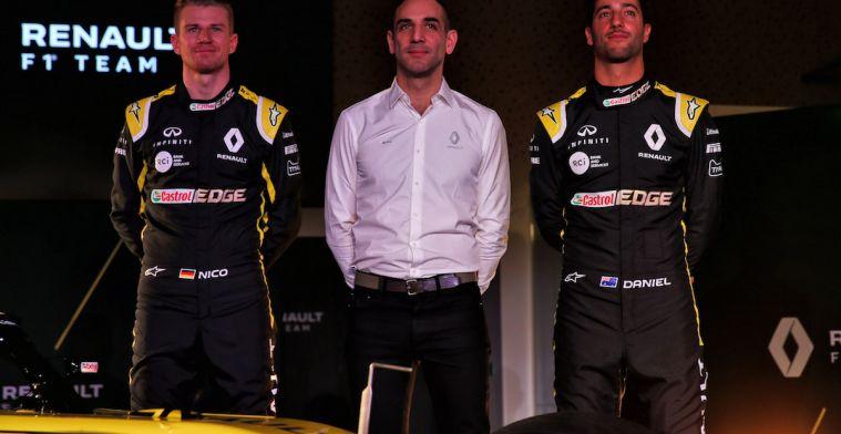 Renault: 'We hebben misschien wel de beste coureurs in de Formule 1'