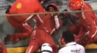 Afbeelding: Ferrari-mecanicien die been brak tijdens pitstop keert terug in paddock
