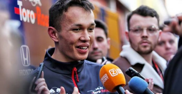 Albon was shocked when he recieved Toro Rosso call