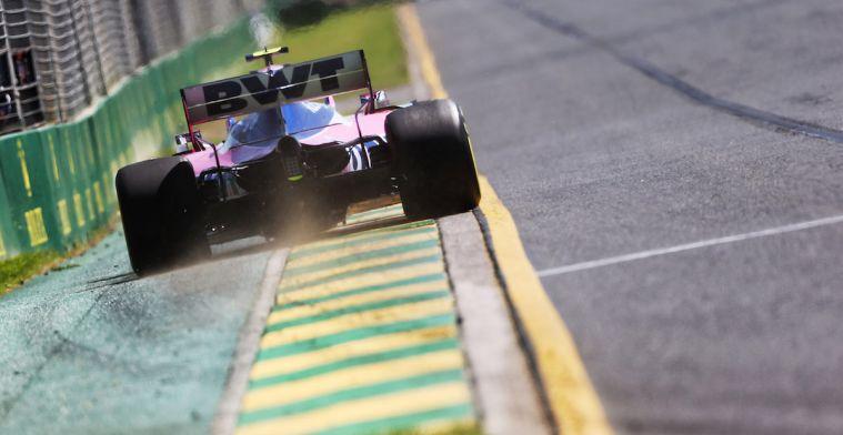 Eerste verkeersboete in de Formule 1 is alweer uitgedeeld