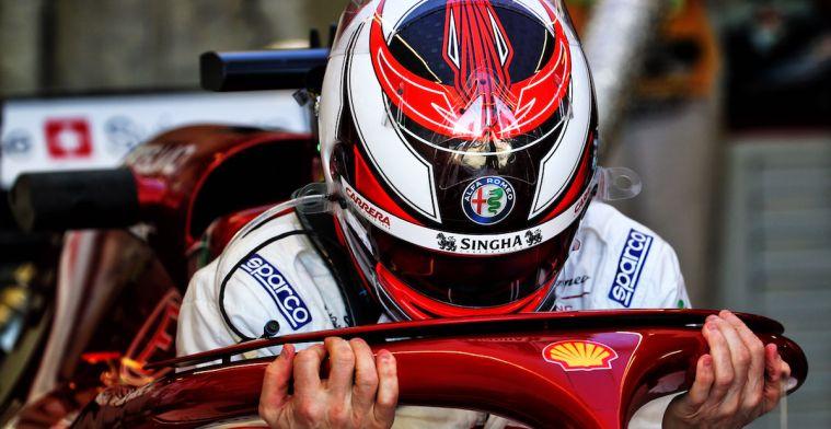 Kimi Raikkonen wordt niet enthousiast van een zesde plek met Alfa Romeo