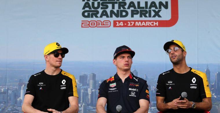 Ricciardo zint op wraak tegen Hülkenberg bij GP van Duitsland