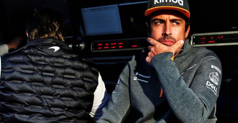Alonso sluit terugkeer Formule 1 in 2020 of komende drie jaar niet uit