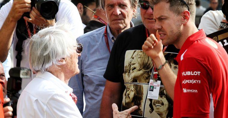 Volgens Bernie Ecclestone heeft de Formule 1 een winnende Sebastian Vettel nodig