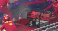 Afbeelding: Ferrari helpt Toro Rosso met het blussen van een brandje