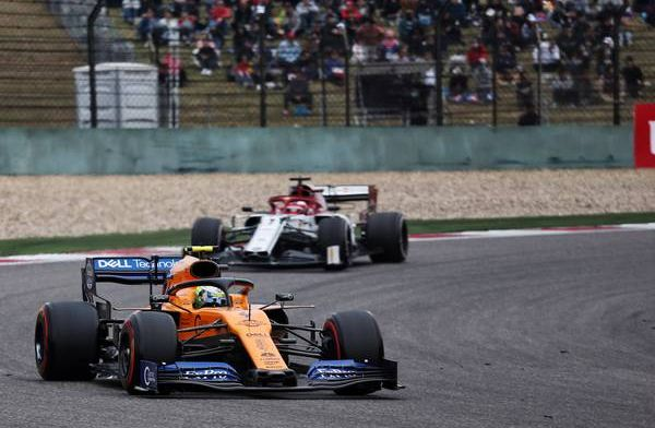 Norris says McLaren's pace is better than anyone apart from the top three