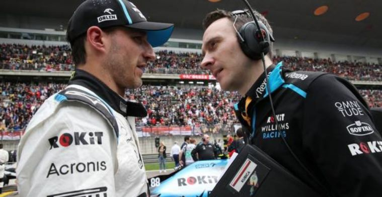 Kubica struggling with race pace against Russell