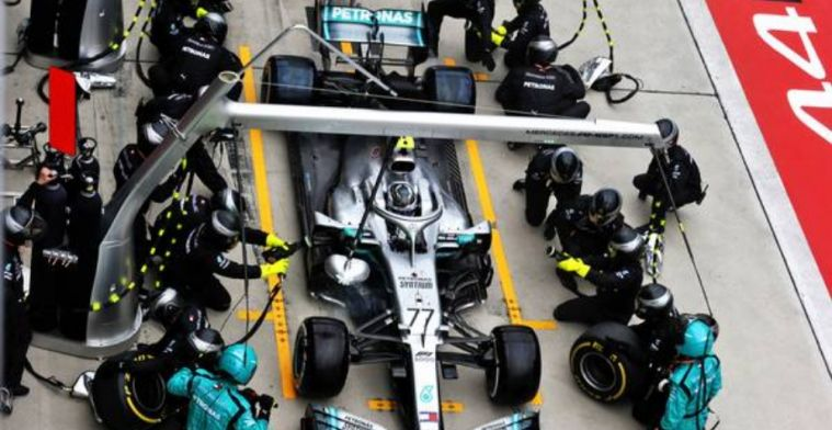 Bottas was questioning Mercedes' pit decision