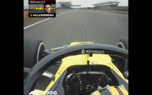 Afbeelding: Watch Hülkenberg desperately trying to repair his car at 200 mp/h