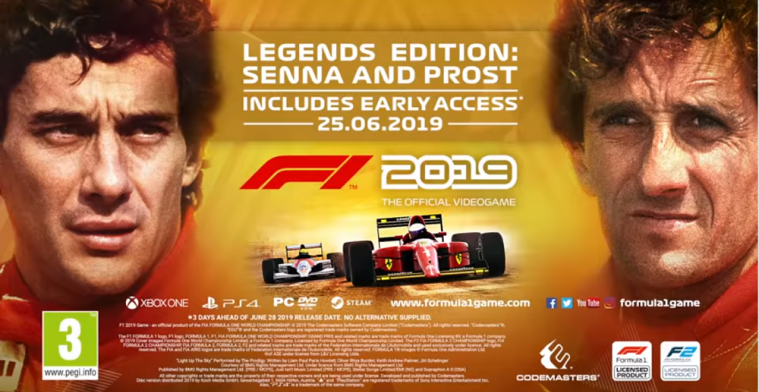 Codemasters reveals 'Legends Edition' for F1 2019 with Senna & Prost