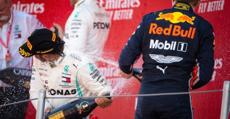 Hamilton: Waarschijnlijk eerste keer dat Red Bull zich op hun auto moet richten
