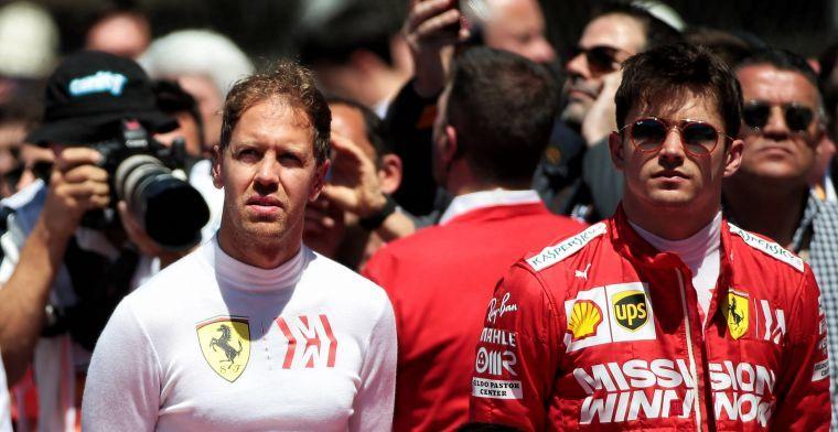 Vettel: 'Verstappen had dezelfde pace als Ferrari in Spanje'