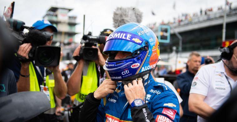 Fernando Alonso kwalificeert zich niet voor de Indy500