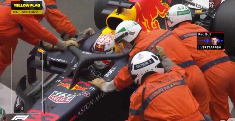 Verstappen moest teruggeduwd worden tijdens VT1 Monaco