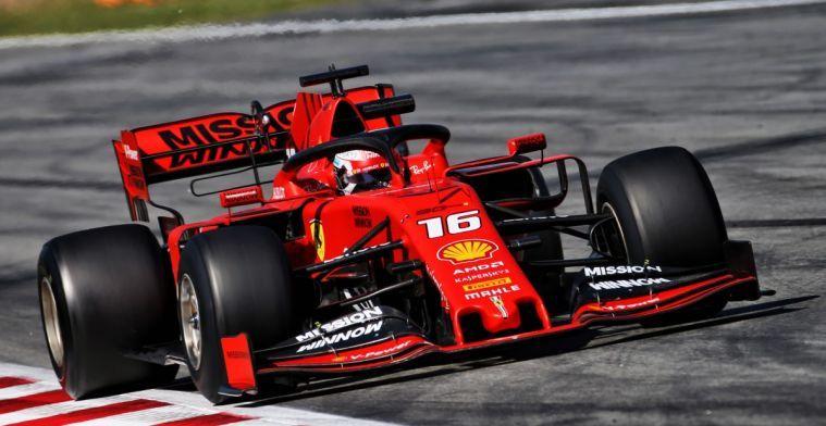 Vettel en Leclerc beide boete voor te snel rijden in pitstraat