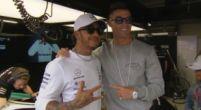 Afbeelding: Christiano Ronaldo en Hamilton chillen samen in Monaco