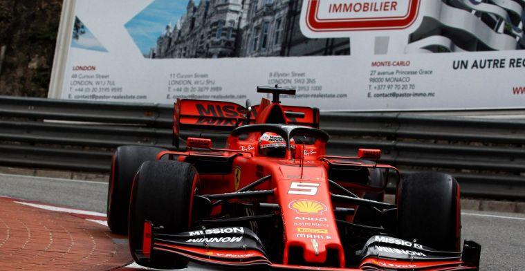 Ferrari krijgt banden maar niet op temperatuur. Hitte van remmen de oplossing?