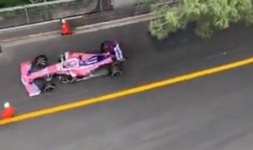 BIZAR: Nieuwe beelden tonen het bizarre incident van Sergio Perez