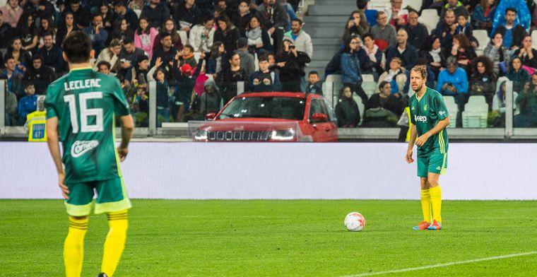 Leclerc trapt balletje met Ronaldo voor het goede doel