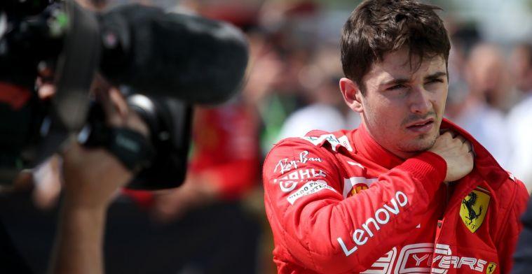 Leclerc kreeg niks te horen over de tijdstraf van Vettel