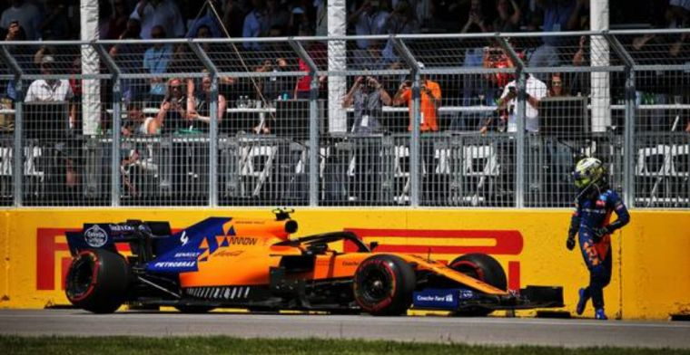 Norris says he didn't hit the wall in McLaren failure mystery