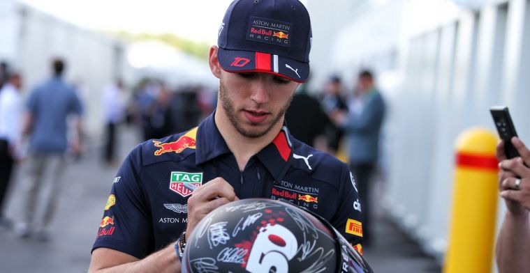 Pierre Gasly voelt zich minder comfortabel in Red Bull-auto dan in Toro Rosso