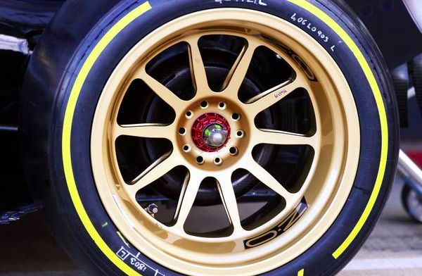 This is how the 18-inch wheels look like on a Formula 2 car