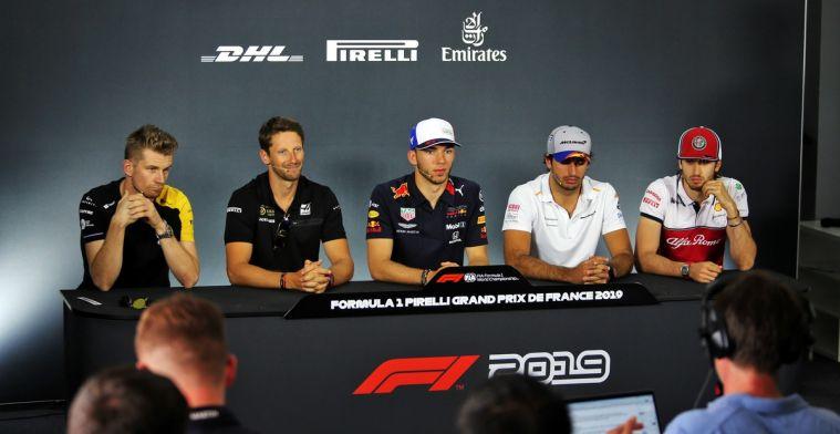 Coureurs reageren bij persconferentie op tijdstraf Vettel