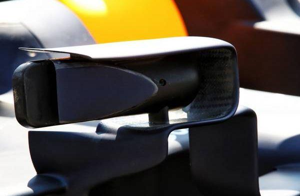 Red Bull tijdens GP Frankrijk met nieuwe spiegelsteunen
