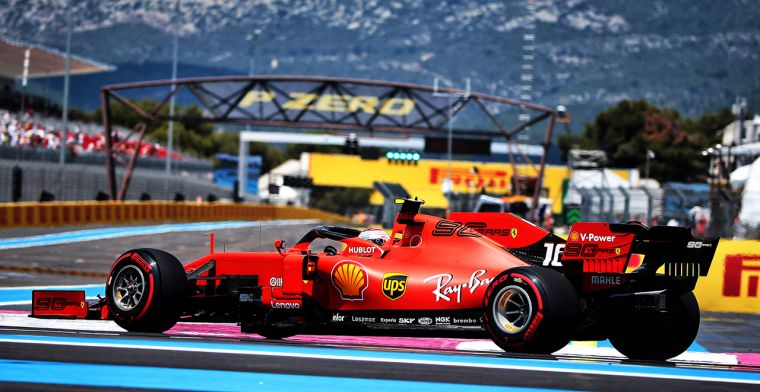 Ferrari test opnieuw onderdelen van GP Frankrijk
