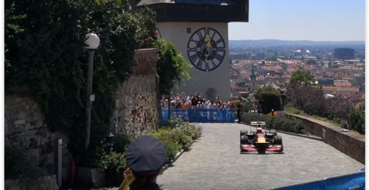 """Verstappen reflecteert op demorun in Graz: """"één van de uitdagendste tot nu toe"""""""