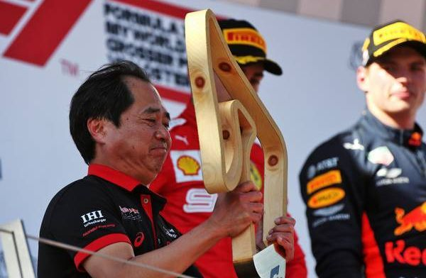Honda boss admitted he didn't know what to do on podium after first win!