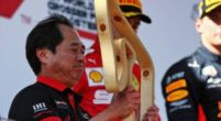 Image: Honda boss admitted he didn't know what to do on podium after first win!