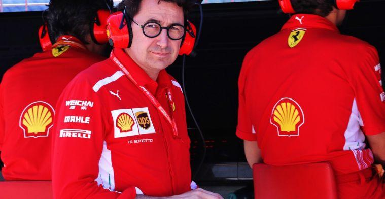 Binotto neemt Vettel niks kwalijk over fouten die dit jaar zijn gemaakt