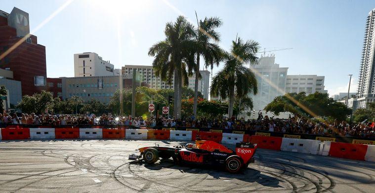 Grand Prix in straten van Miami 'komt er', maar wel op de lange termijn