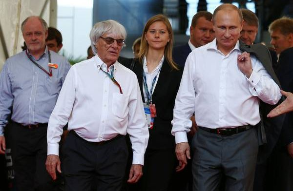 Bernie Ecclestone would take a bullet for Vladamir Putin