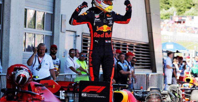 Geen feestjes voor Max Verstappen na overwinning Oostenrijk