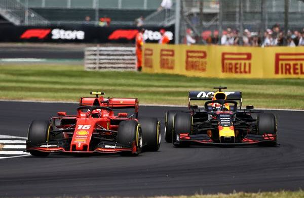 Watch: Leclerc and Verstappen battle in the pits during British Grand Prix