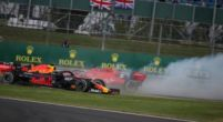 Image: Listen: This is what Vettel said on Ferrari team radio after British GP crash