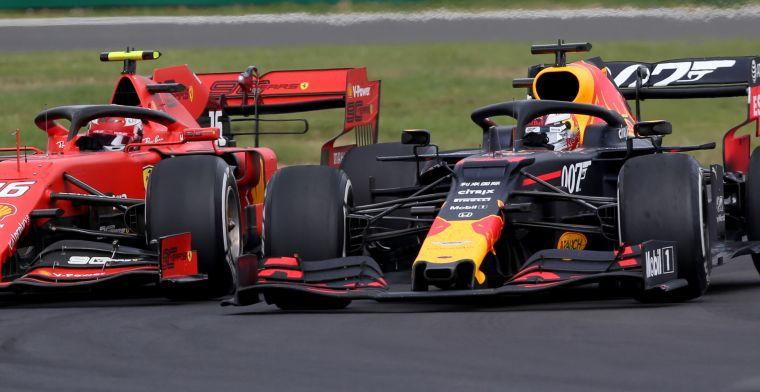 Pitlanegevecht Verstappen en Leclerc mag gewoon: Geen onderscheid tijdens race