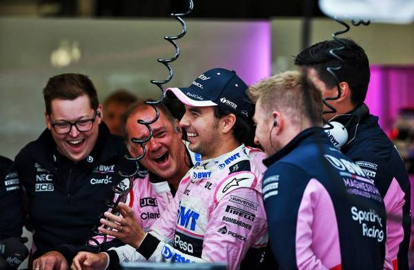 Sergio Perez caught out by Lance Stroll's race pace