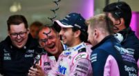 """Image: Sergio Perez """"caught out"""" by Lance Stroll's race pace"""