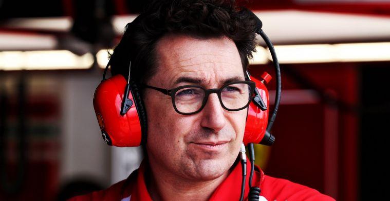 Stroef seizoen van Ferrari komt volgens Binotto Niet door andere rol