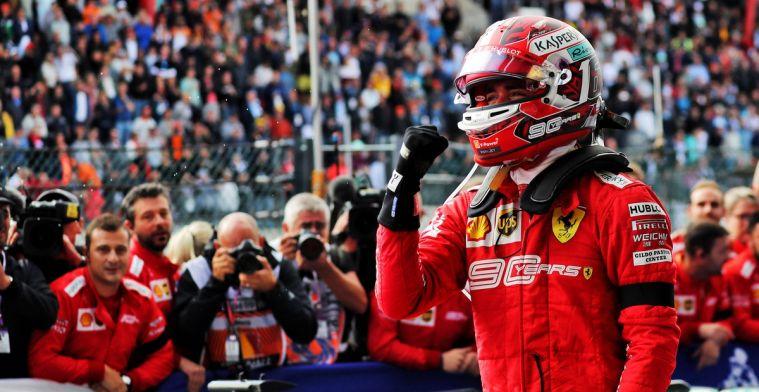 Brundle onder de indruk van Leclerc: Hij draagt Ferrari op zijn schouders