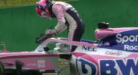 Afbeelding: Rode vlag nummer twee in VT1: Perez crasht in sector drie!